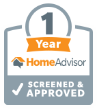 More than 1 years in home advisor top rated list